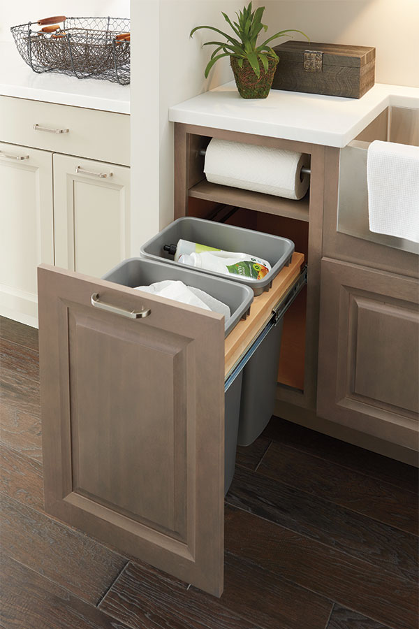 Metro Detroit Bulk Cabinet Suppliers - Custom Countertop Fabrication | KDI Kitchens, Inc. - 4PaperTowelCabMSeaEgrS2