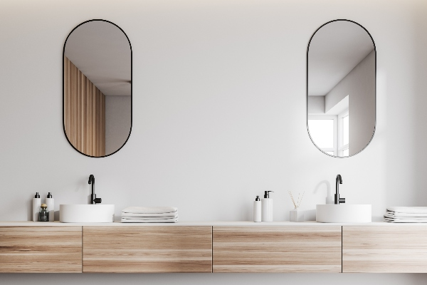 A double vanity is one of the bathroom design trends of 2021.